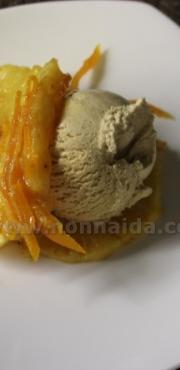 Ananas caramellata all'arancia