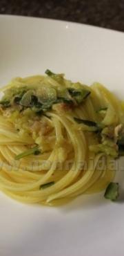 Linguine alla pancetta e zucchine