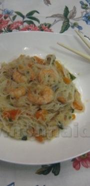 Spaghetti di riso ai frutti di mare