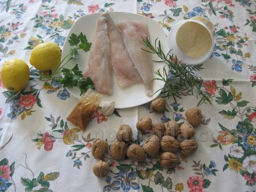 Filetto di pesce alle noci